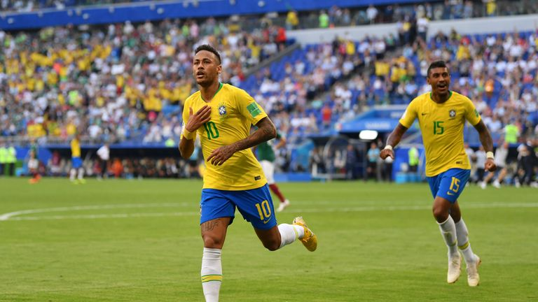Brazil beat USA  2-0 with goals from Firmino, Neymar