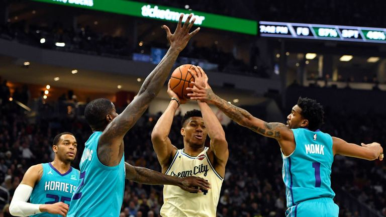 Charlotte Hornets against Milwaukee Bucks in Week 6 of the NBA