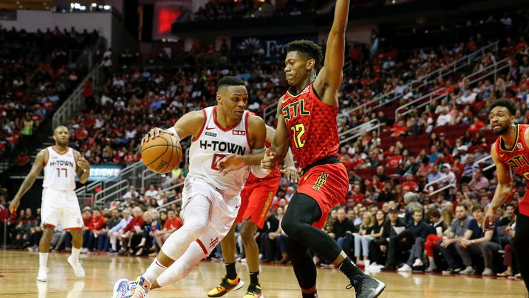 Atlanta Hawks against Houston Rockets in Week 6 of the NBA