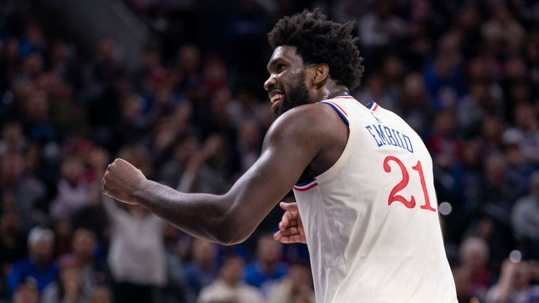 Joel Embiid of Philadelphia 76ers scores 32 in win over Pacers
