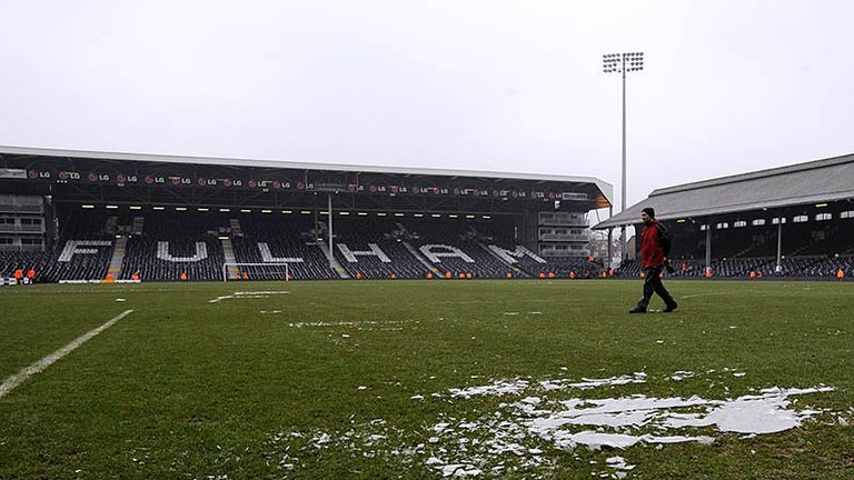 Fulham v Blackburn: The match at Craven Cottage is called off due to a frozen pitch.