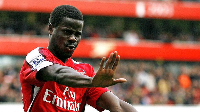 90th minute: Eboue calmly slots home from the spot for Arsenals fourth.