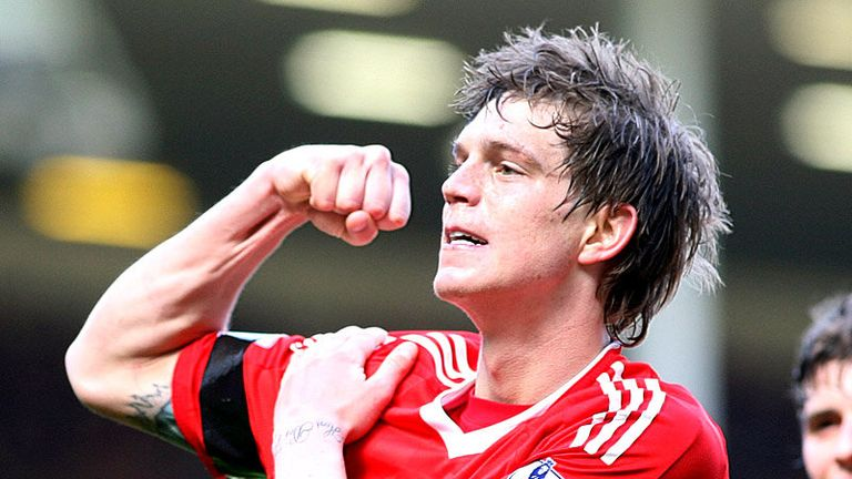 83rd minute: Daniel Agger celebrates after hitting home a trademark 25-yard strike.