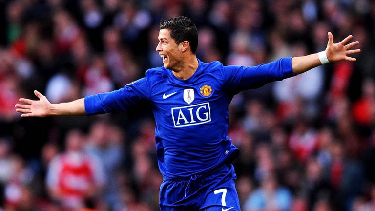11th minute: Ronaldo celebrates after scoring direct from a free-kick.