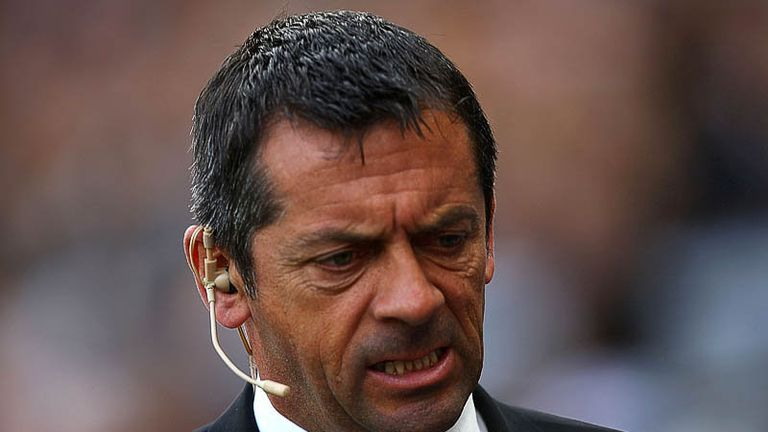 Phil Brown at the start of a must-win game against Stoke City.