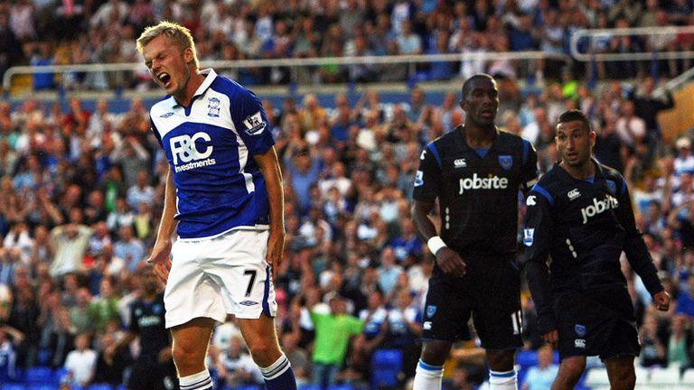 Sebastian Larsson rues a missed chance for Birmingham.