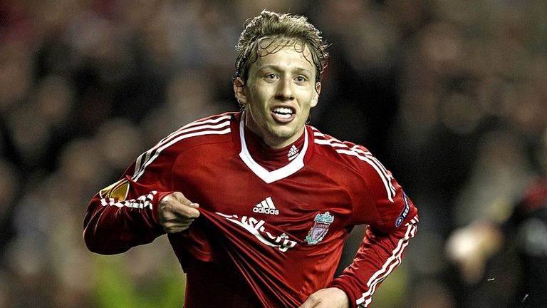 Lucas celebrates doubling the lead for Liverpool and putting them ahead on aggregate