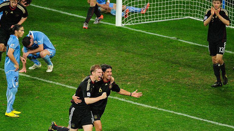 Sami Khedira heads the winner for Germany on 83 minutes