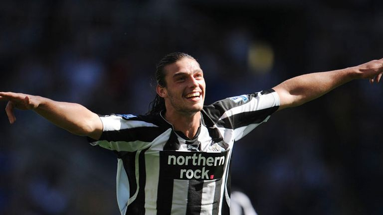 Andy Carroll celebrates after making it 3-0 to the Magpies