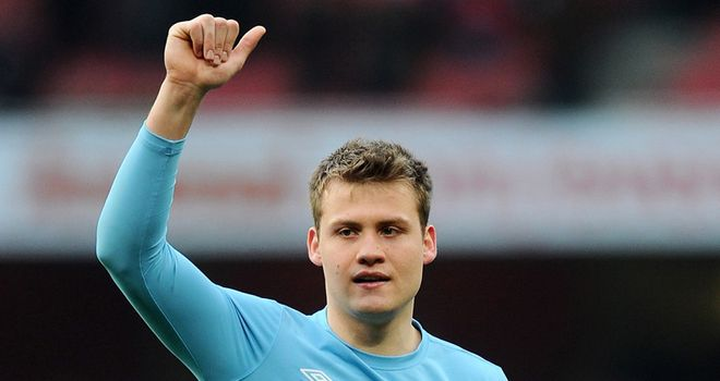 Simon Mignolet: Suffered a broken nose in a clash with Emile Heskey