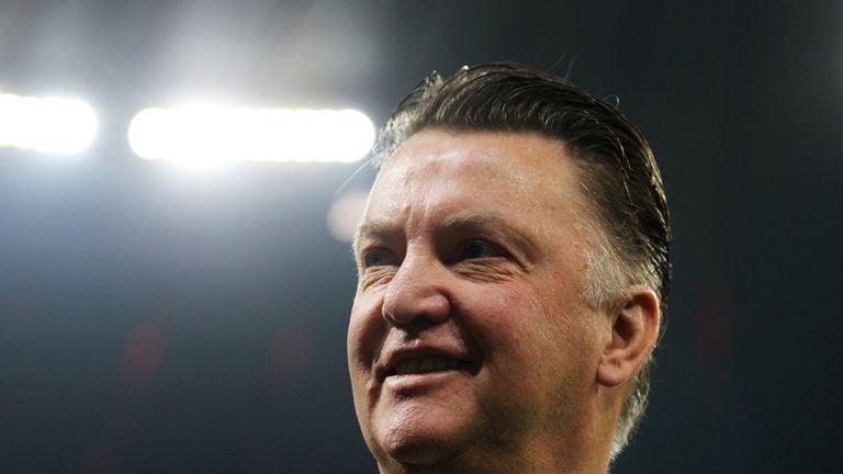 Under fire Bayern Munich boss Louis van Gaal prepares to watch his team take on Inter.