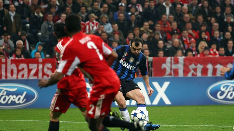 Goran Pandev completes a stunning comeback at Bayern to put Inter 3-2 in front.