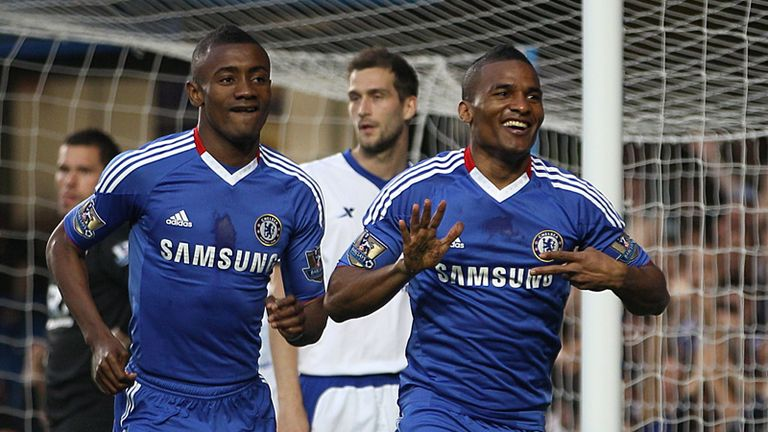 Florent Malouda puts Chelsea in front after three minutes