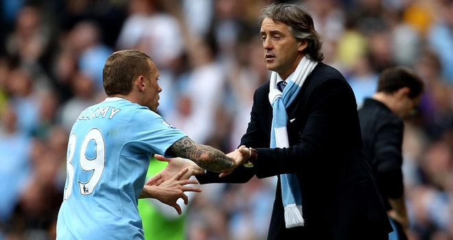 Bellamy: Fell out with Mancini just one week after manager's arrival at Man City