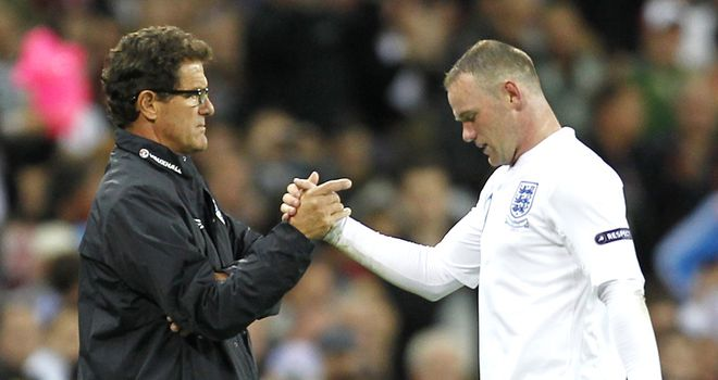 Fabio Capello worked with Wayne Rooney when he was in charge of England between 2008 and 2012