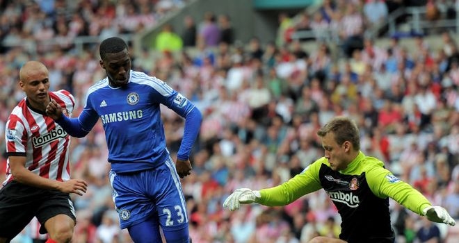 Sturridge: His clever back-heel claimed the three points for Chelsea against a hard-working Sunderland side