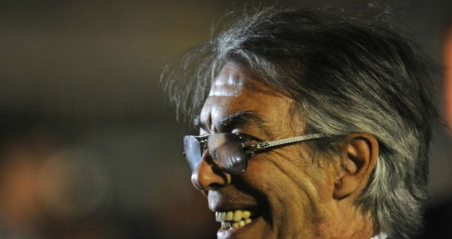 Massimo Moratti: Moved to deny rumours that he is lining up a move for Fabio Capello
