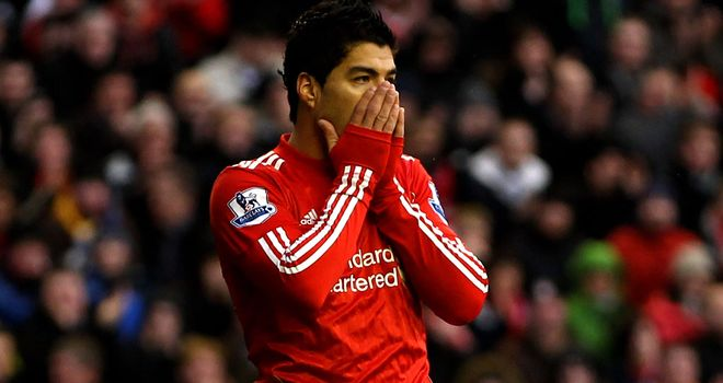 Luis Suarez: Banned for eight games following comments made towards Patrice Evra