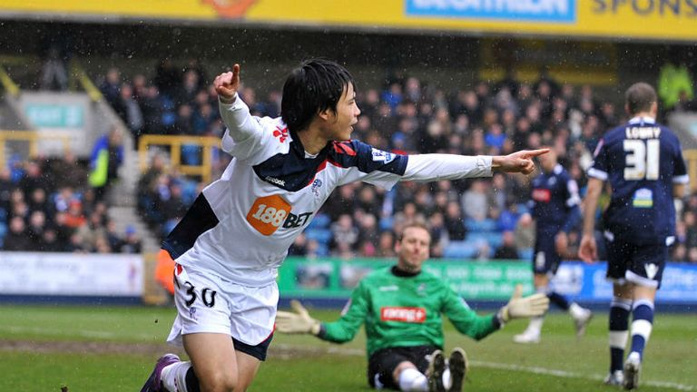 Bolton Wanderers Ryo Miyaichi celebrates scoring his teams opening goal at Millwall