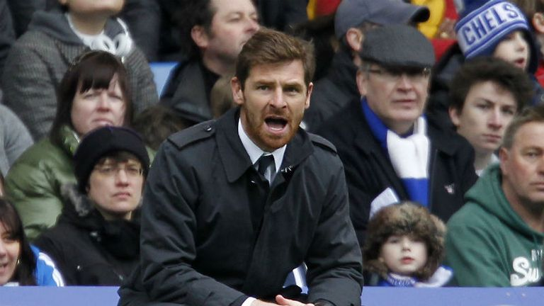 Chelseas under-pressure Portuguese manager Andre Villas-Boas tries to rally his troops