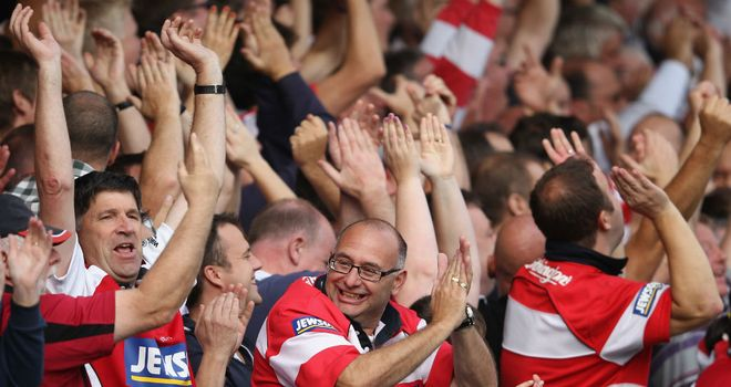 Gloucester fans show their support