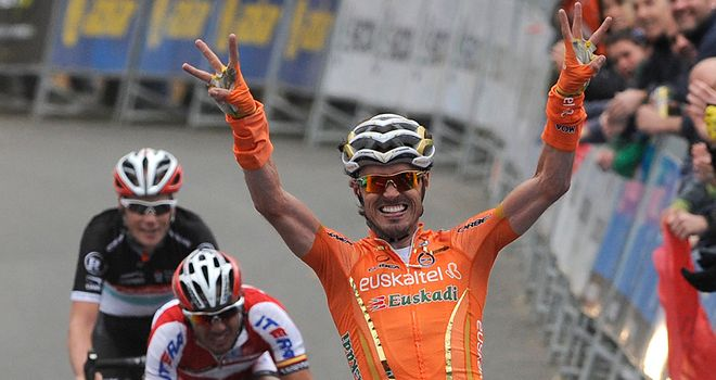 Samuel Sánchez: Won the stage into Eibar for the third year in succession