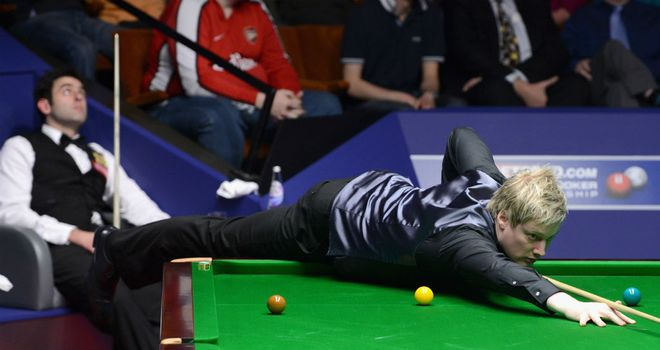 Neil Robertson (R): Opened an early 5-3 lead over Ronnie O'Sullivan in their quarter-final