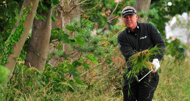 Darren Clarke: seven bogeys on day one at Royal Lytham