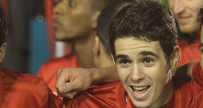 Oscar: The Brazil international is expected in the UK on Tuesday ahead of the Olympics