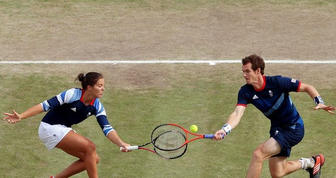 Laura Robson and Andy Murray: Olympic silver medalists in mixed doubles