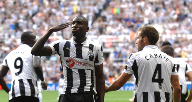 Demba Ba: The Newcastle striker scored an excellent opening goal to give his side the lead