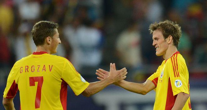 Costin Lazar celebrates his goal