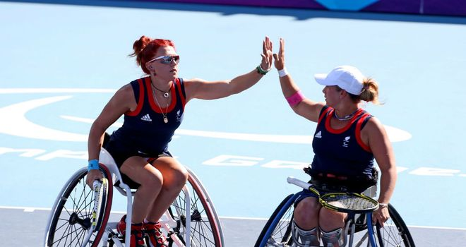 Whiley and Lucy Shuker (l) won Paralympic bronze in London
