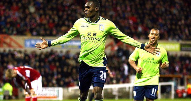 Christian Benteke: Scored twice to send Villa through