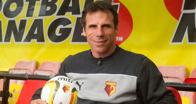 Zola had a spell in charge of Watford