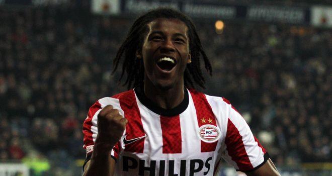 Georginio Wijnaldum: Midfielder says he is happy to stay at PSV despite reports linking him to Arsenal