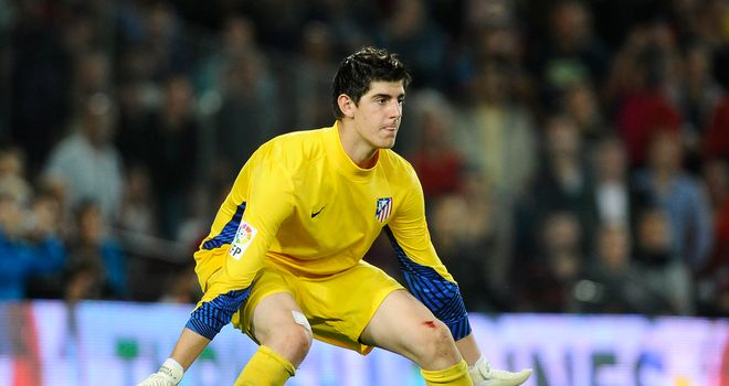 Thibaut Courtois: Hoping to stay on loan at Atletico Madrid