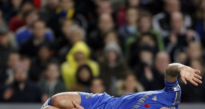 John Terry: Suffered the injury in a collision with Liverpool's Luis Suarez