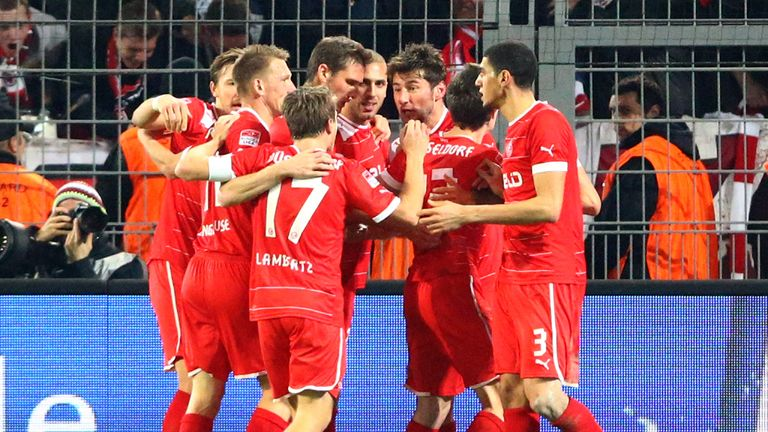 Fortuna Dusseldorf had plenty of reason to celebrate on Friday