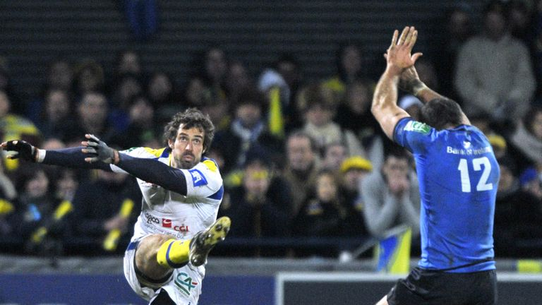 Brock James kicked a crucial drop goal as Clermont edged Leinster in France