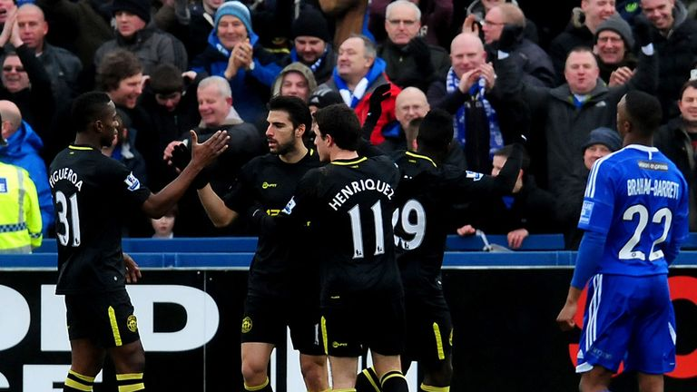 Wigan: Premier League side celebrate Jordi Gomez's goal