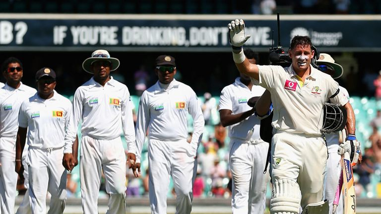 Mike Hussey bids farewell in his final Test in Sydney
