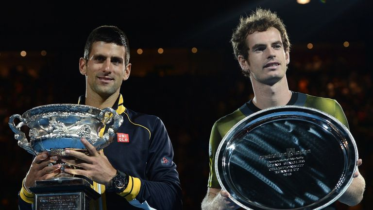 Novak Djokovic: With Andy Murray after beating him in Australian Open final