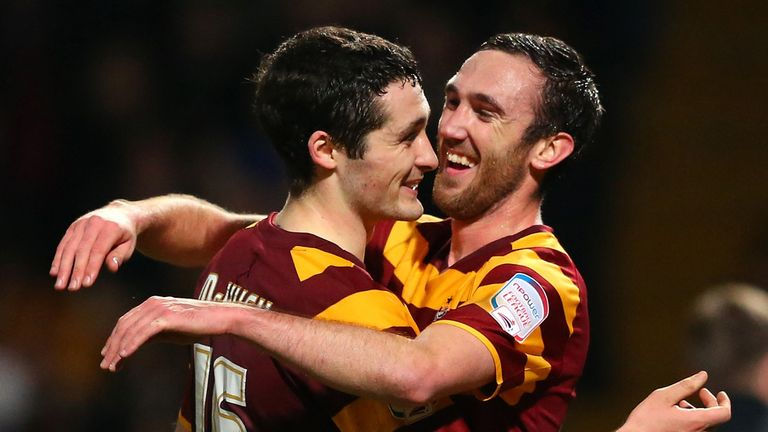 Rory McArdle: Scored the second of Bradford's goals in their 3-1 win over Aston Villa on Tuesday