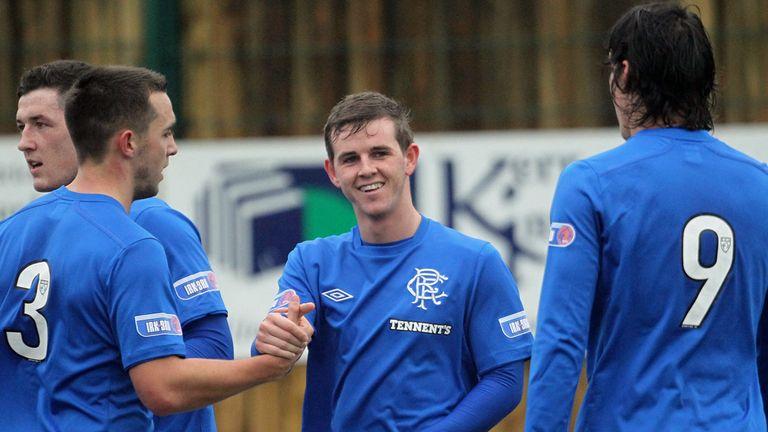 Templeton: Celebrates goal for Rangers