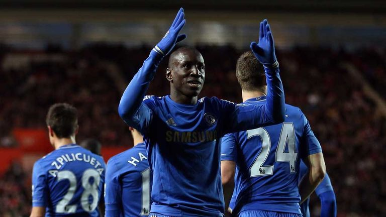 Demba Ba: Two goals on his Chelsea debut in 5-1 thrashing of Southampton
