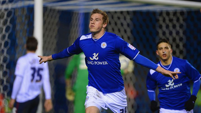 Chris Wood: Scores the opening goal for Leicester