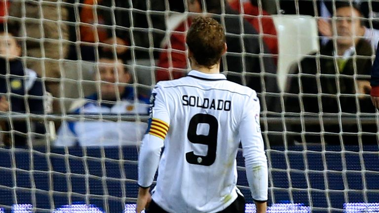 Roberto Soldado: Struck to put Valencia on the brink of a top-four finish