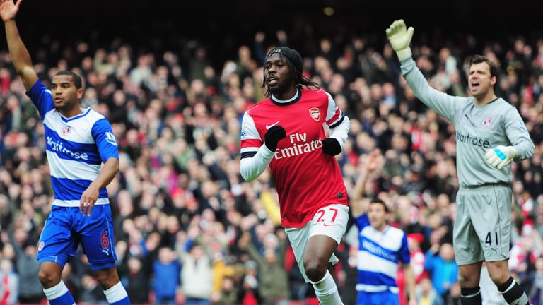 Gervinho opened the scoring for Arsenal after just 11 minutes