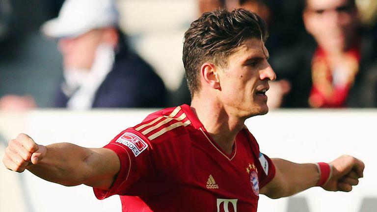 Mario Gomez celebrates the only goal of the game